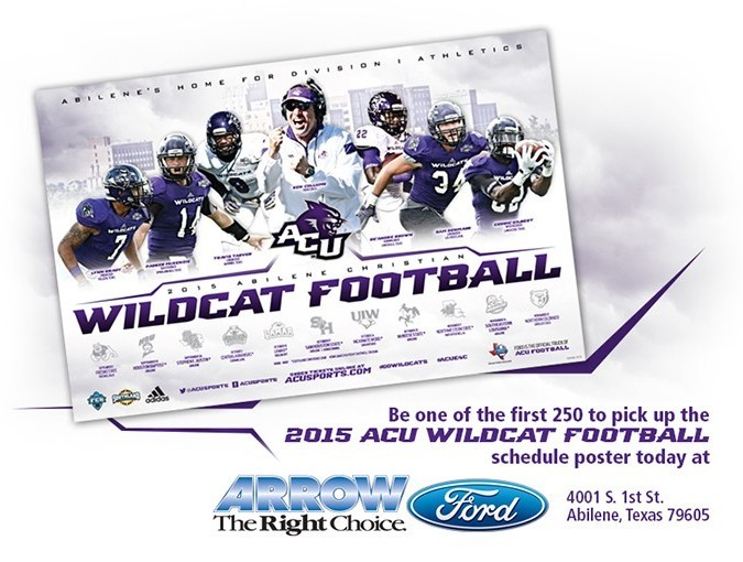 Arrow Ford Abilene >> Fans Can Pick Up Schedule Posters Today At Arrow Ford