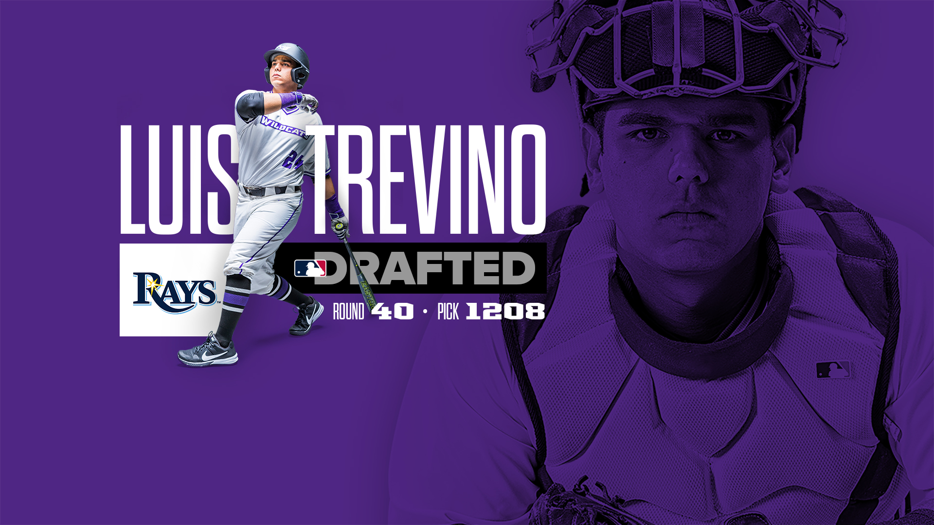 Catcher Luis Trevino Drafted By Tampa Bay Rays Abilene Christian